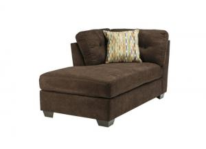 LR47 Chocolate LAF Corner Chaise from the High Energy Collection