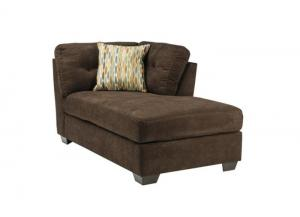 LR47 Chocolate RAF Corner Chaise from the High Energy Collection