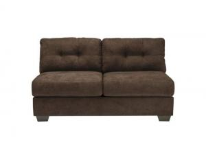 LR47 Chocolate Armless Loveseat from the High Energy Collection