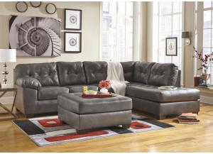 LR48 Gray Contemporary Leatherblend 2-Piece Sectional