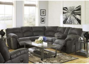 LR4 Contemporary Grey 2-Piece Reclining Sectional