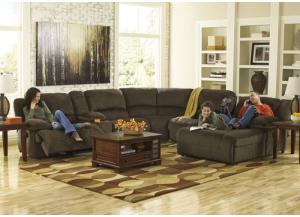 LR12 Chocolate Plush 6-Piece Sectional