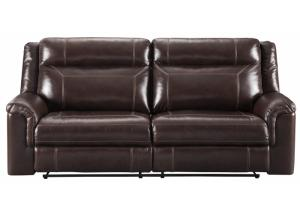 Wyline Coffee Power Reclining Sofa w/ Adjustable Headrest