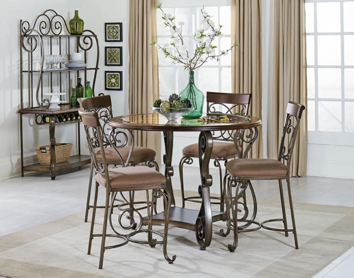 BOMBAY COUNTER TABLE WITH FOUR CHAIRS,STANDARD FURNITURE