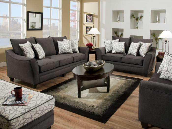 Flannel Seal Sofa and Loveseat,AMERICAN FURNITURE