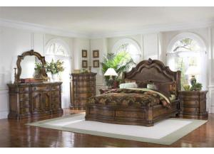 San Mateo Queen Bed, Dresser, Mirror and N.stand