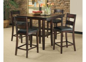 Pendleton Counter Table with 4 Counter Chairs
