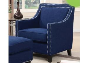 ERICA BLUE ACCENT CHAIR