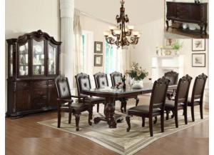 KIERA FORMAL DINETTE TABLE WITH 4 SIDE CHAIRS AND 2 ARM CHAIRS