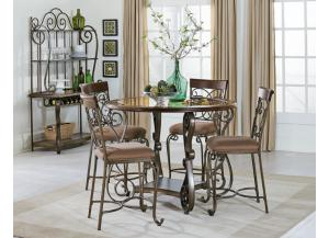 BOMBAY COUNTER TABLE WITH FOUR CHAIRS