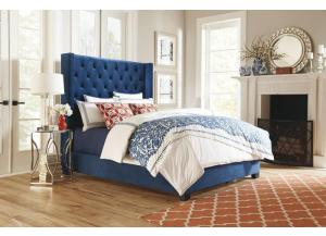 WESTERLY BLUE UPH QUEEN BED