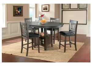 MAX DISTRESSED GREY COUNTER TABLE WITH 4 QTY CHAIRS