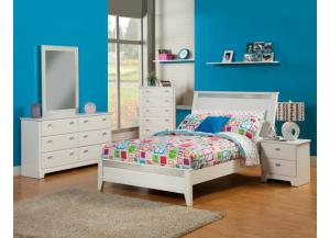 4PC HAILEY FULL BED ,DRESSER, MIRROR AND NSTAND