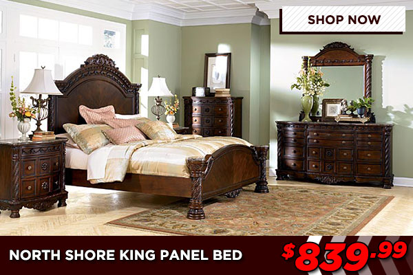 North Shore King Sized Panel Bed Set