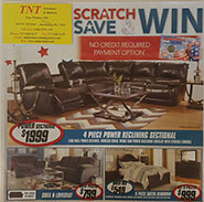 Scratch Save and Win