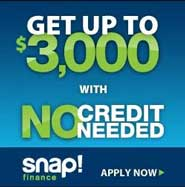 Snap Finance Get up to $3000