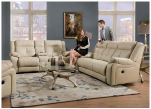 Miracle Pearl Bonded Leather Double Motion Sofa & Loveseat 50590BR