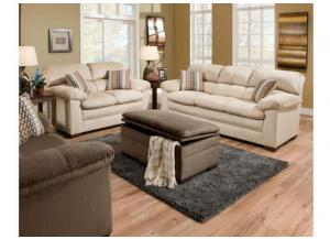 Lakewood Cappuccino Sofa, Loveseat, Chair & Ottoman 3685