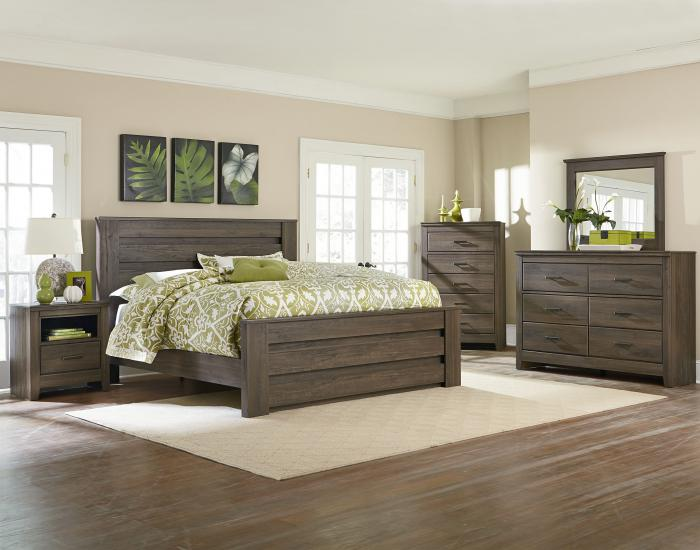 Hayward Queen Bed, Dresser, Mirror ,Standard