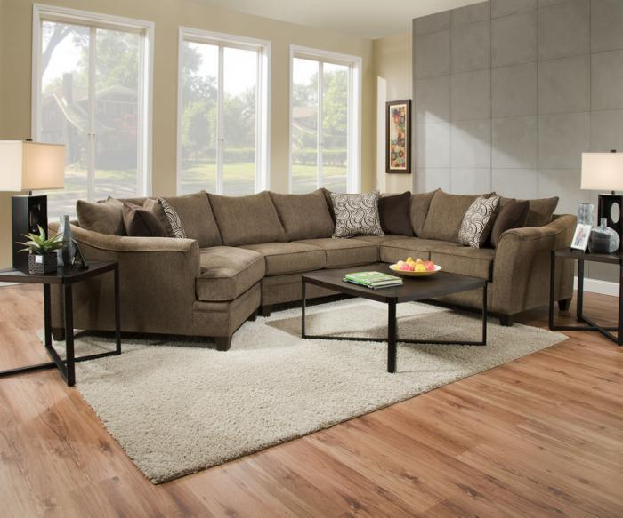 Albany Truffle Sectional   $1299.95,United Furniture Industries