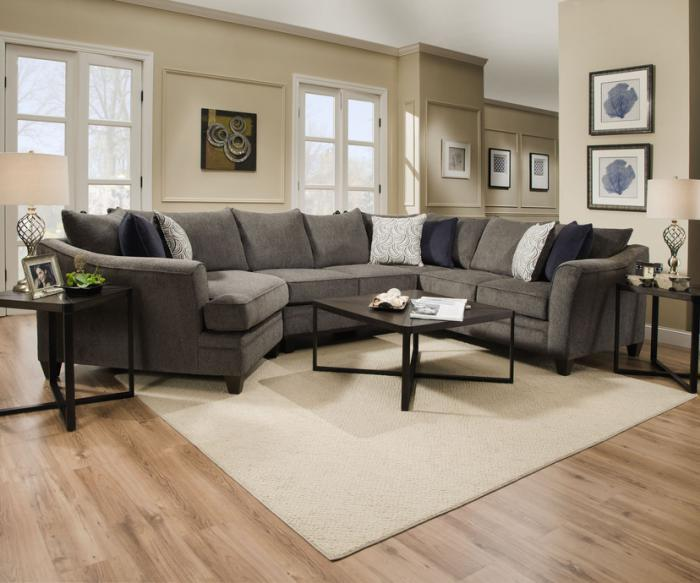Albany Pewter Sectional $1299.95,United Furniture Industries
