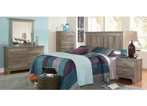 Outland Headboard, Dresser, Mirror