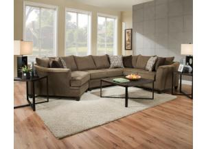 Albany Truffle Sectional   $1299.95