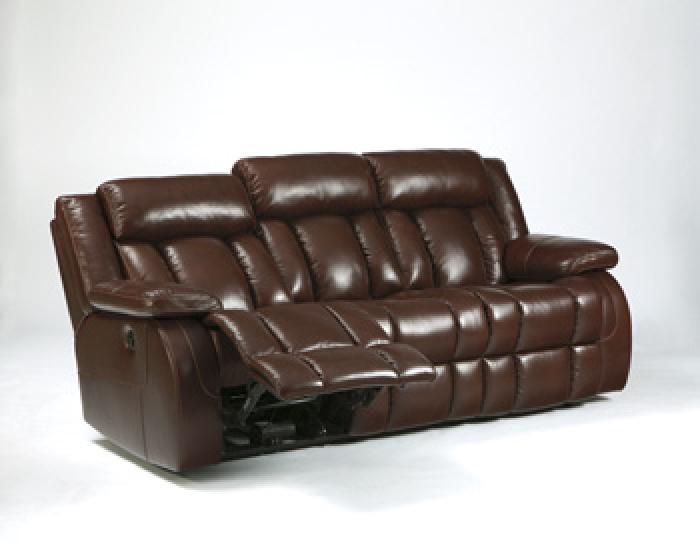 Brown Leather Reclining Sofa,In Store Product