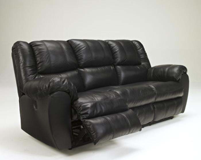Black Leather Reclining Sofa,In Store Product