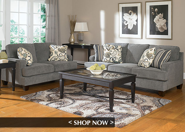Yvette Steel Sofa and Loveseat