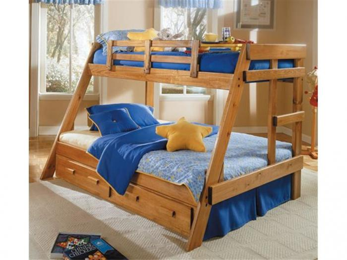 Woodcrest Twin/Full Bunkbed,Woodcrest