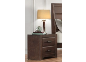 Contemporary Espresso Nightstand