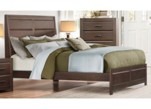 Contemporary Espresso Queen Bed