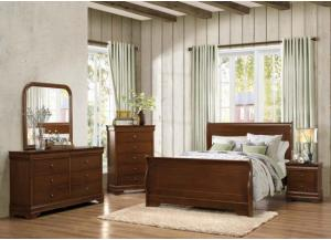 Traditional Cherry 7 Pc. Queen Bedroom Group