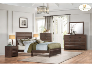 Contemporary Espresso 5 Pc. Queen Bedroom Group