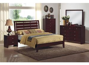 Contemporary Dark Brown 5 Pc. Bedroom Group