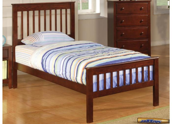 Parker Twin Cherry Bed by Coaster,Coaster