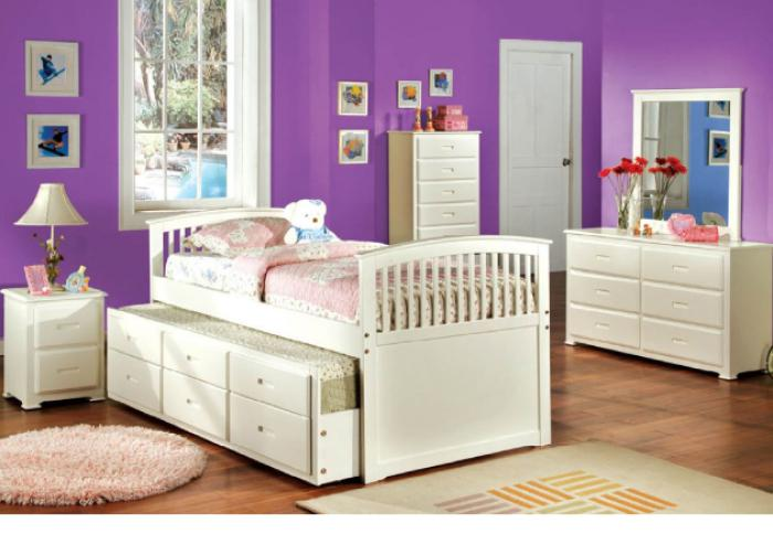 Bella 1 Full Captain Bed with Trundle & Drawers,Furniture of America