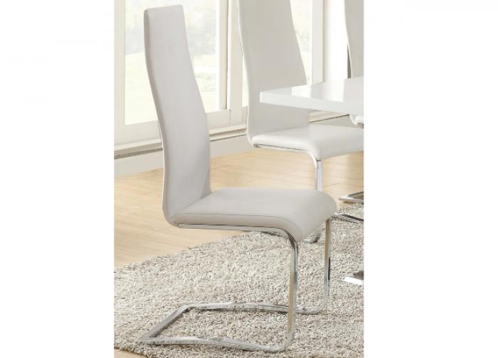 Coaster White Dining Room Side Chair,Coaster