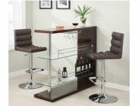 Brown Bar Table w/Wine Glass Holder
