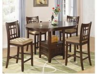 Lavon 5-Piece Cherry Counter Height Dining Set