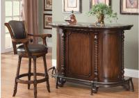 Coaster Cherry Bar Unit w/Marble Top