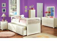 Bella 1 Full Captain Bed with Trundle & Drawers