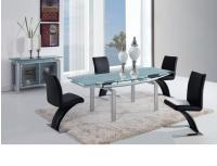 Global Furniture D88 5-Piece Silver Dining Room Set