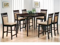 5-Piece Rich Cappuccino Oval Counter Height Dining Set