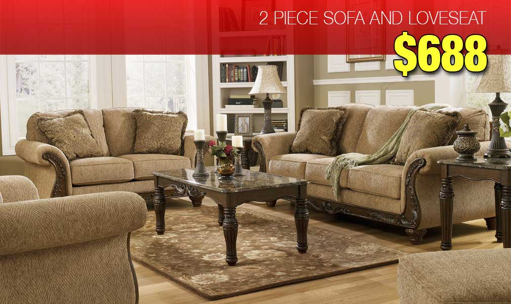 2 Piece Sofa Loveseat