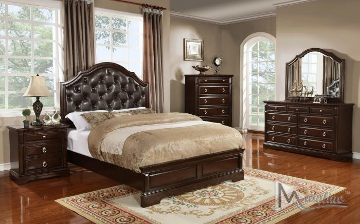 Portofino King Panel Bed, Dresser, Mirror, Nightstand,Mainline