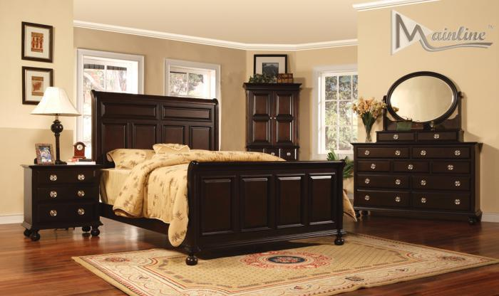 Lanai King Sleigh Bed, Dresser, Mirror. Nightstand,Mainline