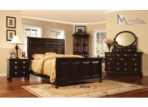 Lanai King Sleigh Bed, Dresser, Mirror. Nightstand