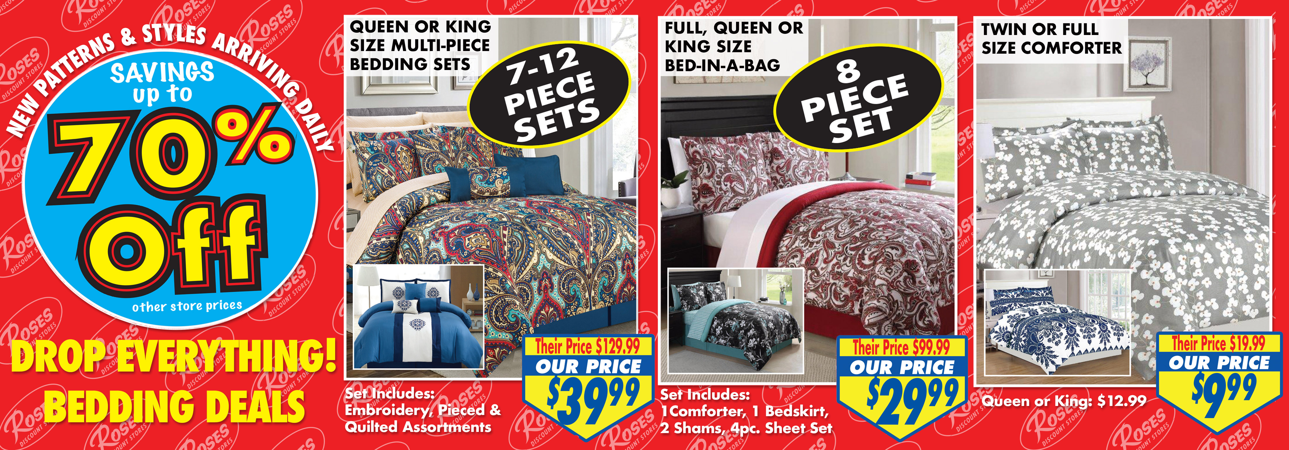 70% Off Bedding Deals